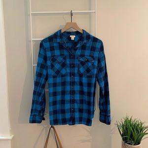 J.Crew  |  buffalo check blue and black flannel